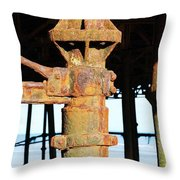Hastings Pier Supports Throw Pillow