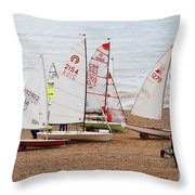 Hastings Sailing Boats Throw Pillow