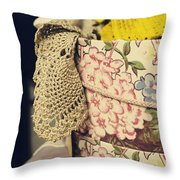 Hatbox Of Lace Throw Pillow