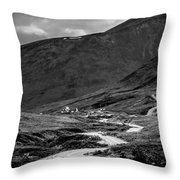 Hatcher's Pass In Black And White Throw Pillow