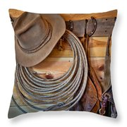 Hats And Chaps Throw Pillow