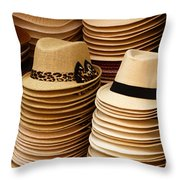 Hats For Sale Salvador Brazil Throw Pillow