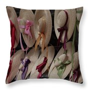 Hats In Colonial Williamsburg Throw Pillow