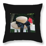Hats Off To Summer Throw Pillow