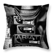 Hats Or Boots Bw Throw Pillow