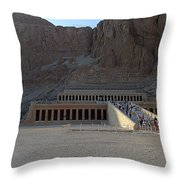 Hatshepsut Temple 06 Throw Pillow