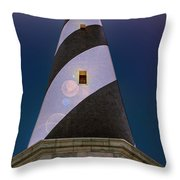 Hatteras Lighthouse At Night Throw Pillow