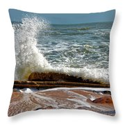 Hatteras Waves Throw Pillow