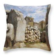 Hattusha The Hittite Capital Throw Pillow