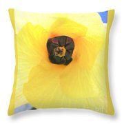 Hau Blossom Throw Pillow