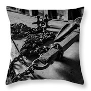 Hauled Anchor Throw Pillow