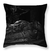 Haunted Crypt Throw Pillow