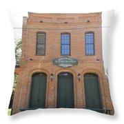 Haunted Historic Saloon Throw Pillow