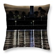 Haunted Lighthouse Throw Pillow