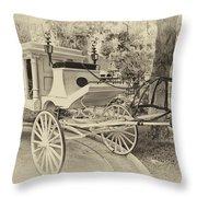 Haunted Mansion Hearse New Orleans Disneyland Heirloom Throw Pillow