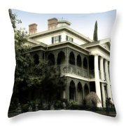 Haunted Mansion New Orleans Disneyland Throw Pillow