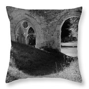 Haunted Mortemer Abbey Throw Pillow