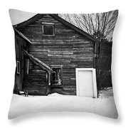 Haunted Old House Throw Pillow