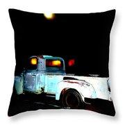 Haunted Truck Throw Pillow