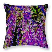 Haunted Wisteria  Throw Pillow