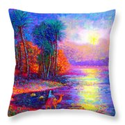 Haunting Star Throw Pillow by Jane Small