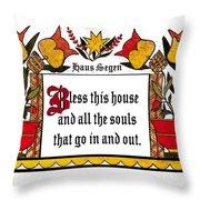 Haus Segen-house Blessing Throw Pillow
