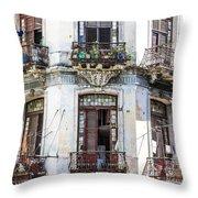 Havana Balconies Throw Pillow