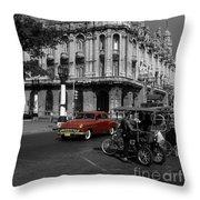 Havana Red Throw Pillow