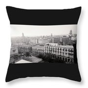 Havana Skyline Throw Pillow