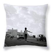 Havana Woman Throw Pillow