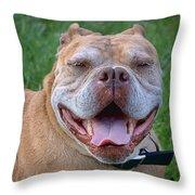 Havana's Grin Throw Pillow