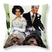 Havanese Art - Father Of The Bride Movie Poster Throw Pillow
