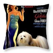Havanese Art - Gilda Movie Poster Throw Pillow
