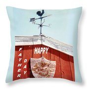 Country Fathers Day  Throw Pillow