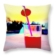 Have A Drink With Me Or Just Go Away And Never Come Back  Throw Pillow