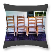 Have A Seat. Throw Pillow