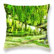 Have A Sit Down Throw Pillow