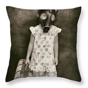 Have Mask Will Travel Throw Pillow