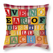 Have No Fear Of Perfection You Will Never Reach It Throw Pillow
