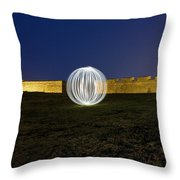 Having A Ball At The Fort Throw Pillow