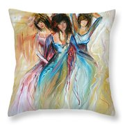 Having Fun Throw Pillow