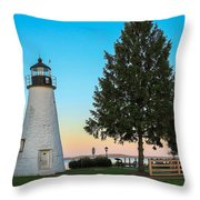 Concord Point Light ... Havre De Grace Md Throw Pillow
