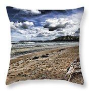 Hawaii Big Island Beaches V2 Throw Pillow