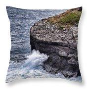 Hawaii Big Island Coastline Throw Pillow