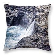 Hawaii Big Island Coastline V2 Throw Pillow