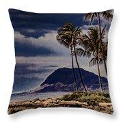 Hawaii Big Island Coastline V3 Throw Pillow