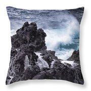 Hawaii Big Island Coastline V4 Throw Pillow
