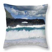 Hawaii Coastline Throw Pillow