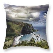 Hawaii Coastline Kauai  Throw Pillow
