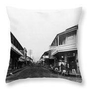 Hawaii: Honolulu, C1875 Throw Pillow